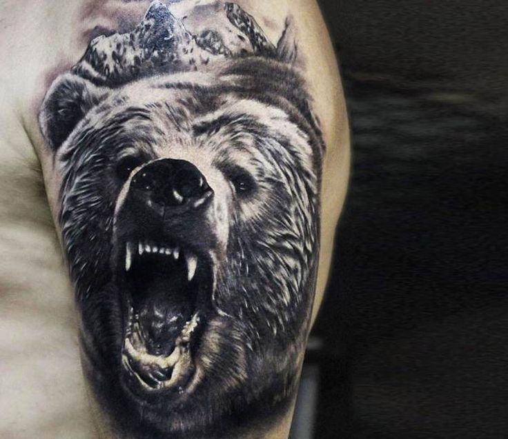 Resultado de imagen para bear head indian tattoo
