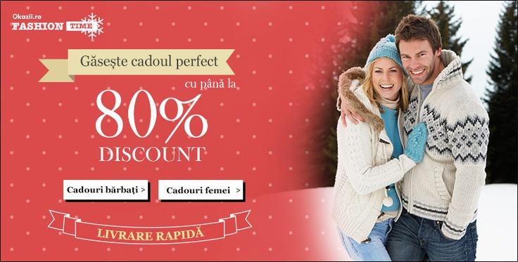 Pana pe 22 decembrie, pe OkaziiFashion gasiti produse cu LIVRARE RAPIDA, cat sa poata fi facute cadou celor dragi!