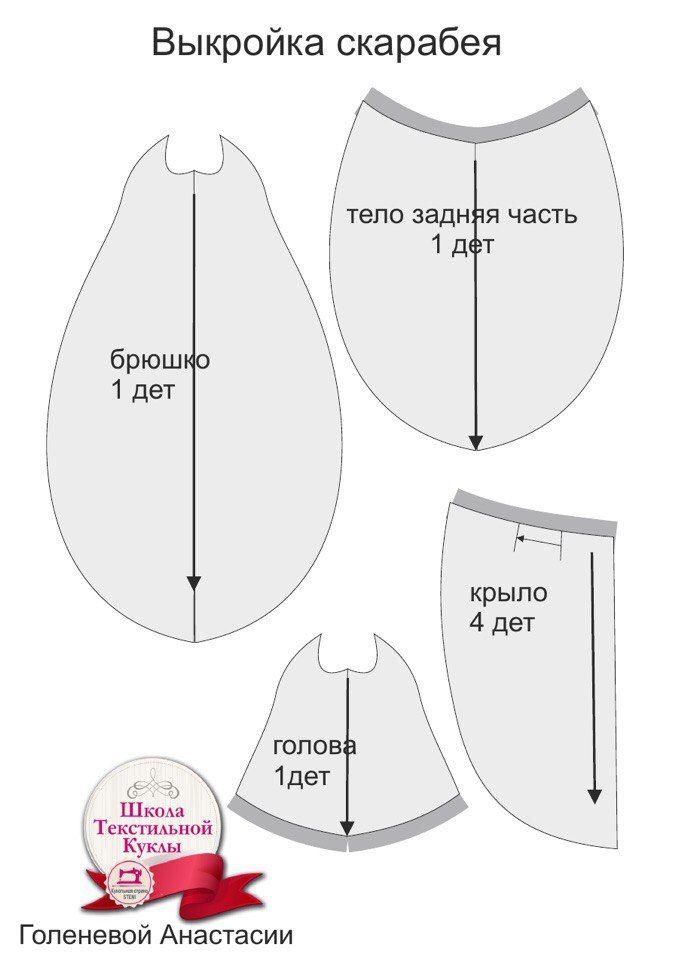 Игрушки hand made (выкройки,схемы)