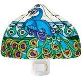 just rightBakers Design, Emerald Green, Bakers Peacocks, Peacocks Nightlight, Night Lights, Joan Bakers, Glasses Night, Peacocks Art, Art Glasses