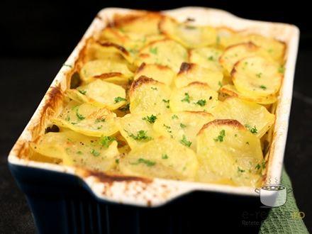 Cartofi Boulangere. Imagini pas cu pas pentru cartofi boulangere