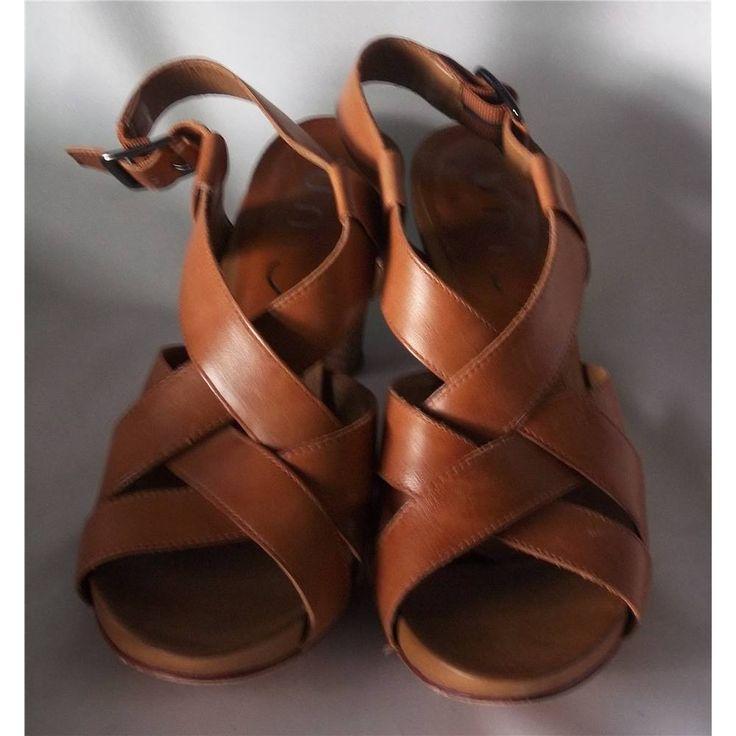 BNWT Unisa Size 5 Tan Brown Leather Sandal | Oxfam GB | Oxfam's Online Shop