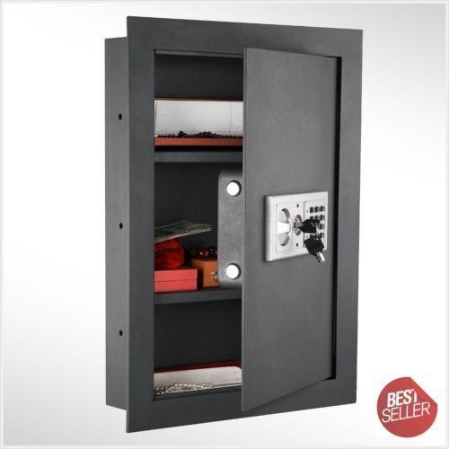 ELECTRONIC HIDDEN FIRE PROOF WALL SAFE LOCK GUN CASH JEWELRY OFFICE HOME STEEL #doesnotapply