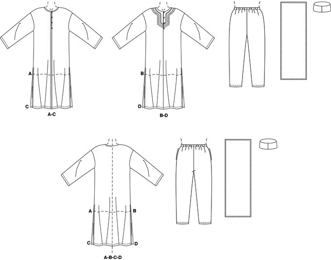 Famous Caftan Sewing Pattern Free Mold - Easy Scarf Knitting ...