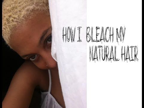 Natural Hair Tutorial Platinum Blonde 4c Twa How I