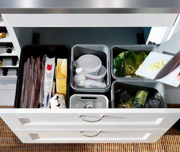 Contenitori per la raccolta differenziata di Ikea