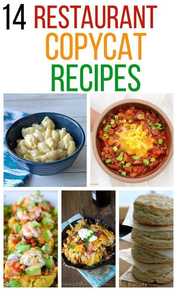 14 Restaurant Copycat Recipes - recipes from The Cheesecake Factory, Panera Bread, and Olive Garden. #copycat #recipe