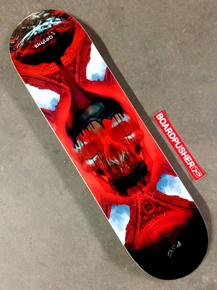 """It's been a little while since we've had a Featured Deck from the apocalyptic mind of Gary Castelli and his Skylab New York brand, but we're stoked to post his latest design """"Black Mass"""". You can take a look at the rest of Skylab's skateboard graphics for sale at www.BoardPusher.com/shop/SkylabNewYork."""