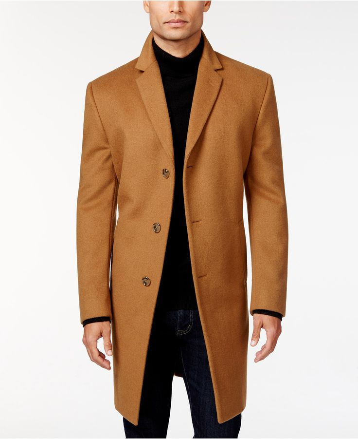 Kenneth Cole Reaction Raburn Wool-Blend Over Coat Slim-Fit - Coats & Jackets - Men - Macy's