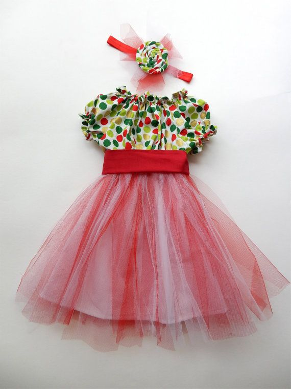 Christmas dress / party dress / pretty girl by RawCottoncollection