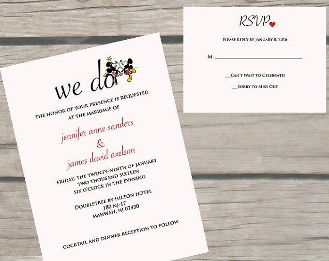 Wedding Invitations Disney