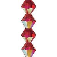 Czech Glass Bicone - Light Siam AB
