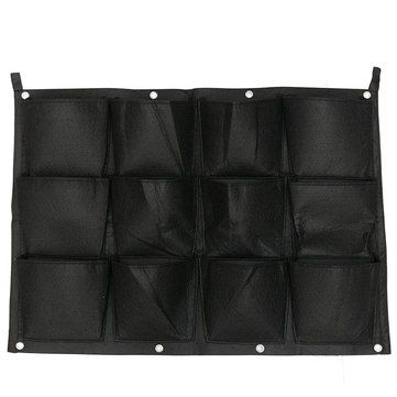 Vertical Gardening Hanging Wall 12 Pockets Planting Bags Seedling Wall Planter Growing Bags