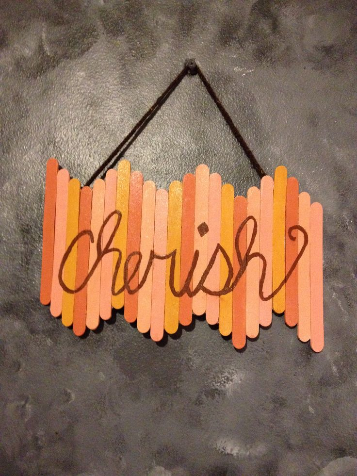Popsicle stick wall art                                                                                                                                                                                 More