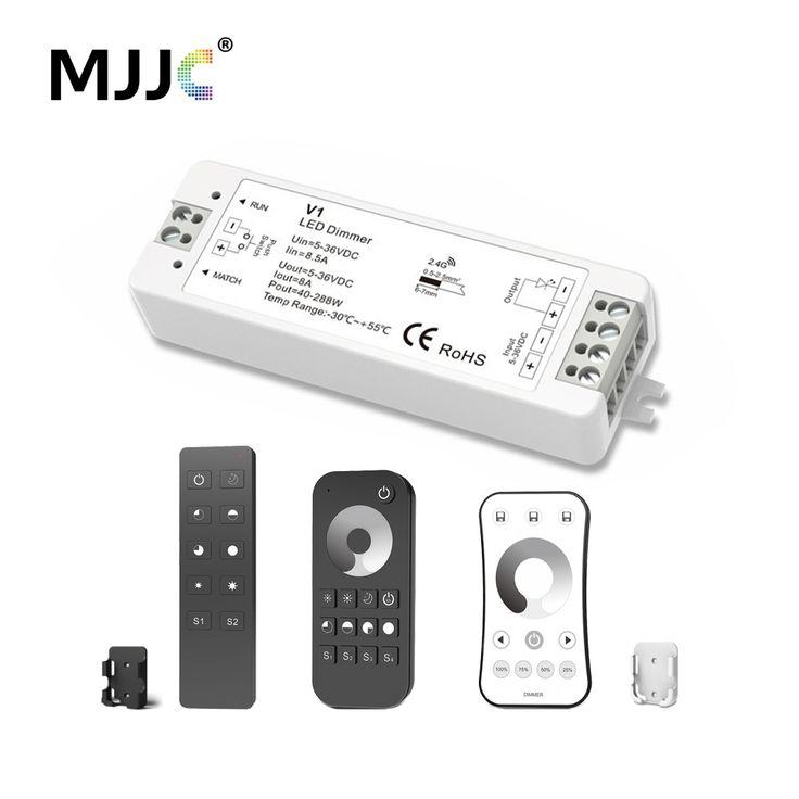 MJJC LED Dimmer 12 V 5 V 24 V 36 V 8A PWM Draadloze RF LED Dimmer OP OFF met 2.4G Afstandsbediening voor Enkele Kleur LED Strip licht