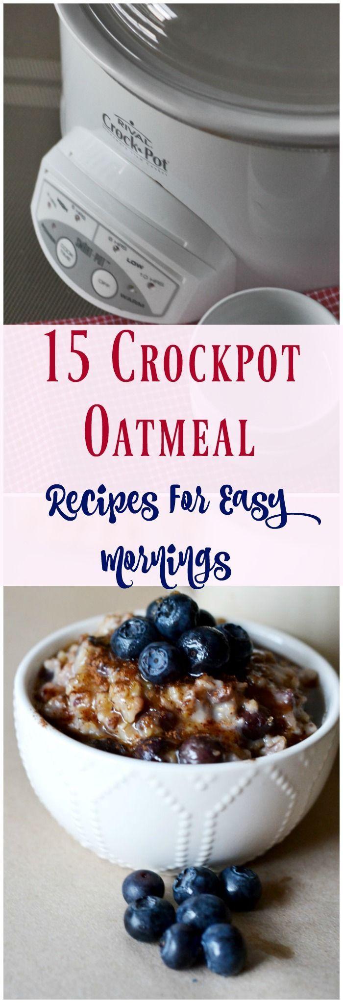 Crockpot Oatmeal: 15 Recipes For Easy Mornings