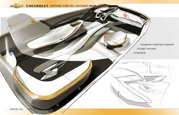 Chevrolet Minivan Interior Concept 2025 on Behance