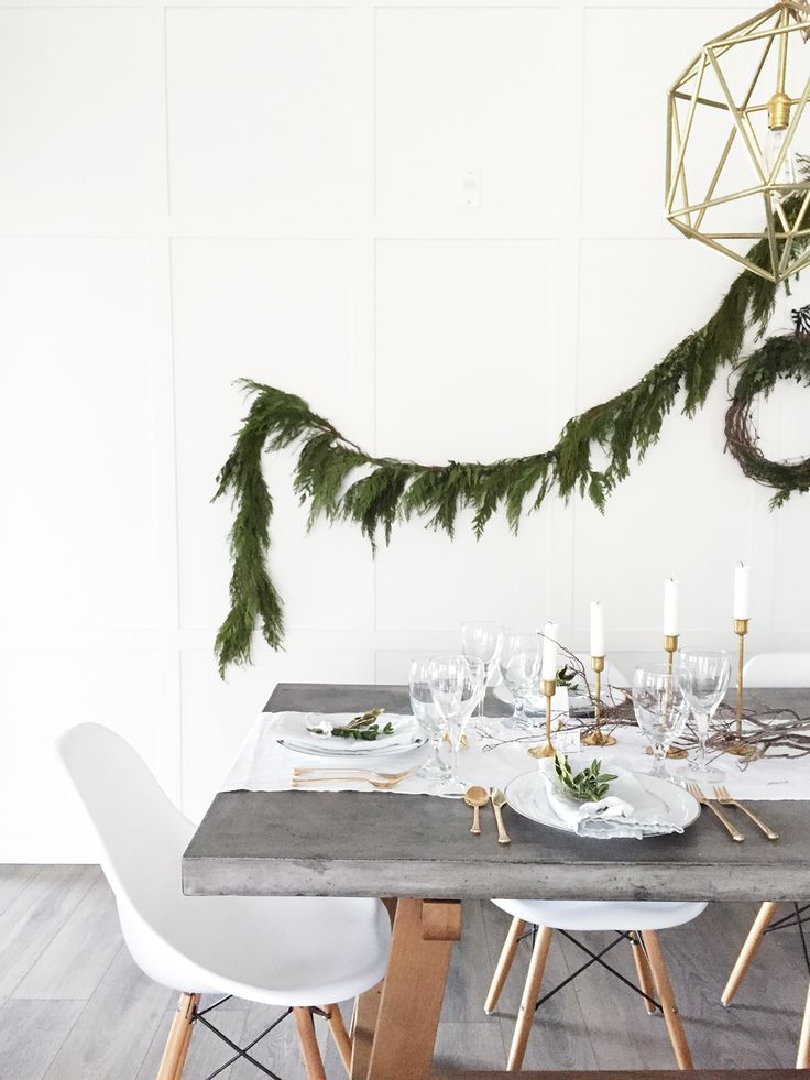 Christmas Decor - Dining Room Tablescape | ineverything.ca