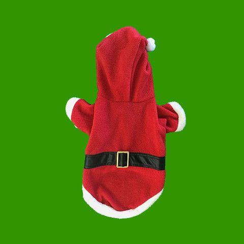 Vista superior de Disfraz de Santa Claus para Perros