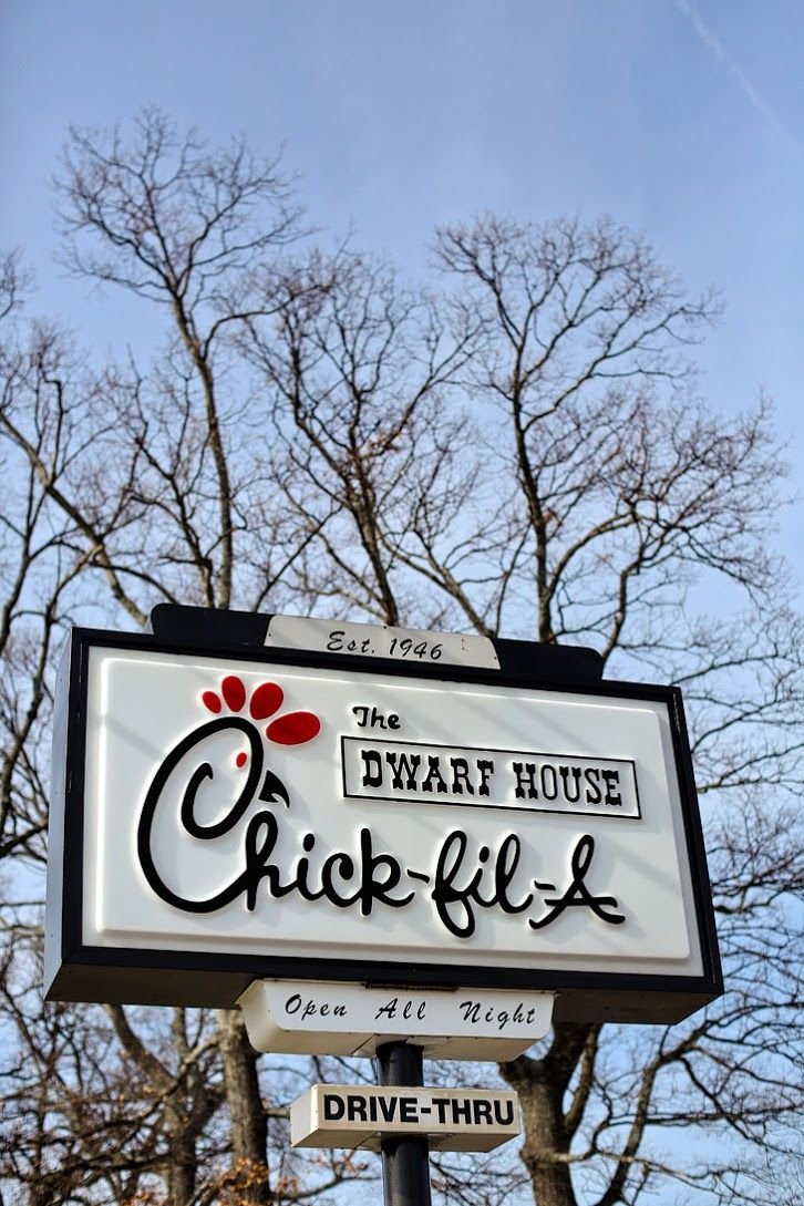 The Dwarf House Chick Fil A // Places to Eat in Atlanta GA.