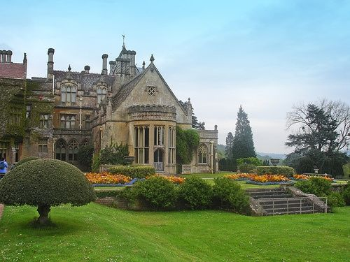 English manor house with gardens