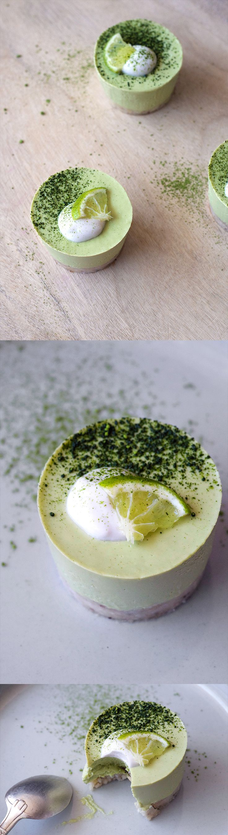 Matcha Key Lime Cheesecake, v + gf