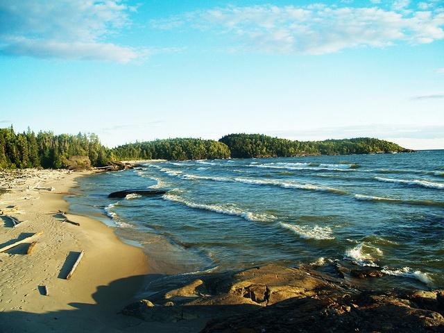 Beach along the Lake Superior Coastal Trail