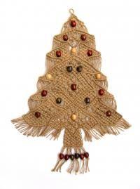 macrame - christmas tree wall hanging