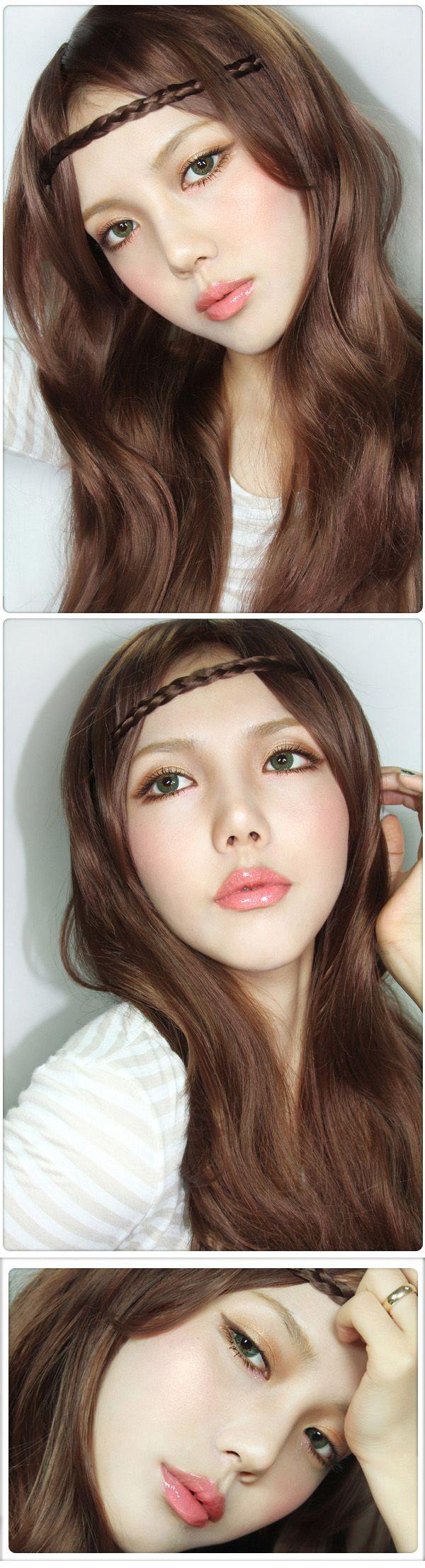 keywords: asian, beauty, korean, makeup, cute, pretty, girl, brown, hair, natural, ulzzang