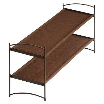 Lynk Vela Stackable Shoe Shelves 2 Tier - Shoe Rack Shelf - Bronze, Bronze Brown
