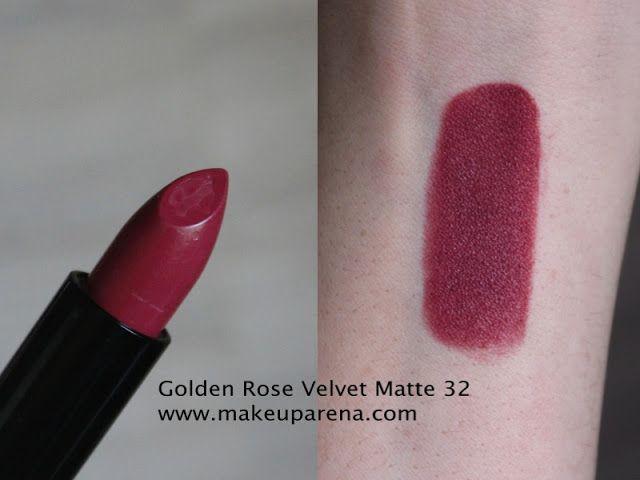 MAKEUP ARENA: Golden Rose Velvet Matte ruževi - nove nijanse 31, 32 i 33