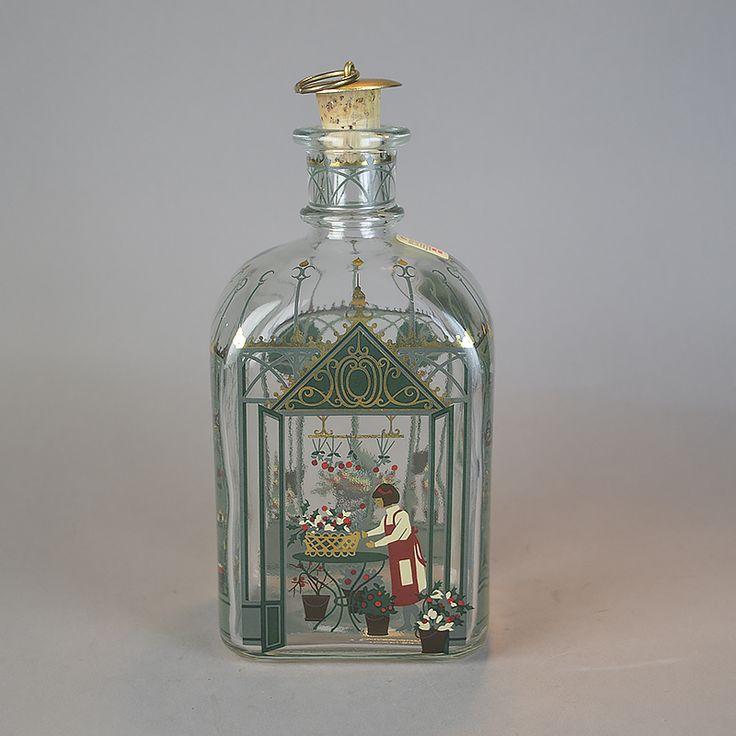 Juleflaske 1999. 70 cl fra Holmegaard Glasværk.