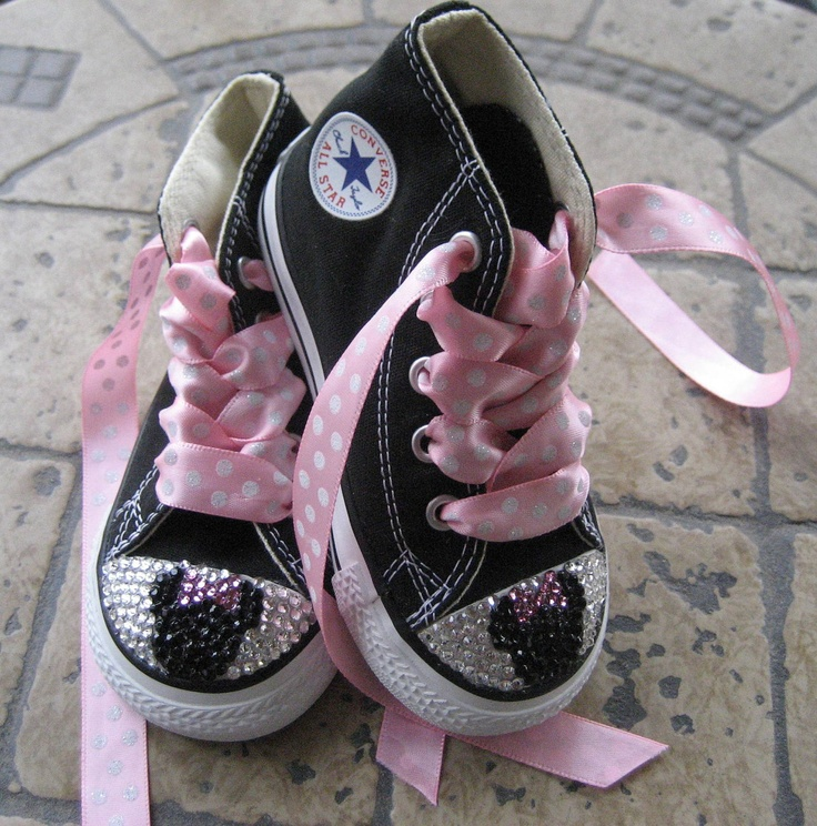 Converse Chuck Taylor All Star SWAROVSKI by CindysBlingsNThings, $70.00..or you could just make them yourself!