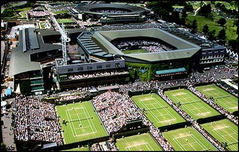 Wimbledon. . . and during the tournament this time!