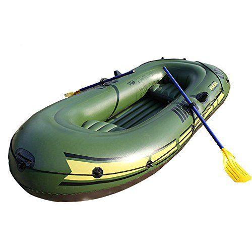 Kayak 3-Person 440-Pound Capacity Inflatable Kayak Drifting Boat Set w/Oars & Air Pump for Camping Vacationing Exploring Remote Areas Cruising Yachts Paddling Fishing Yacht Tending Skin Diving