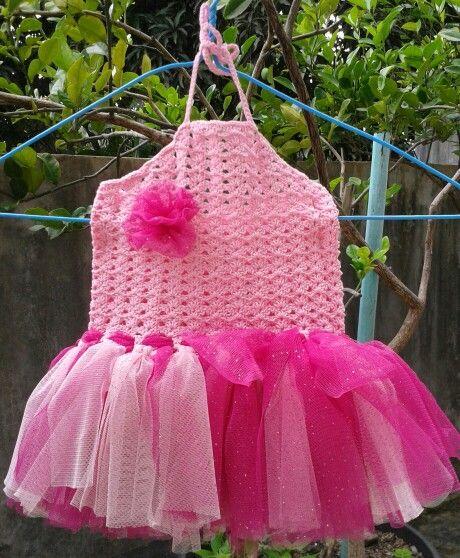 Crochet halter tutu
