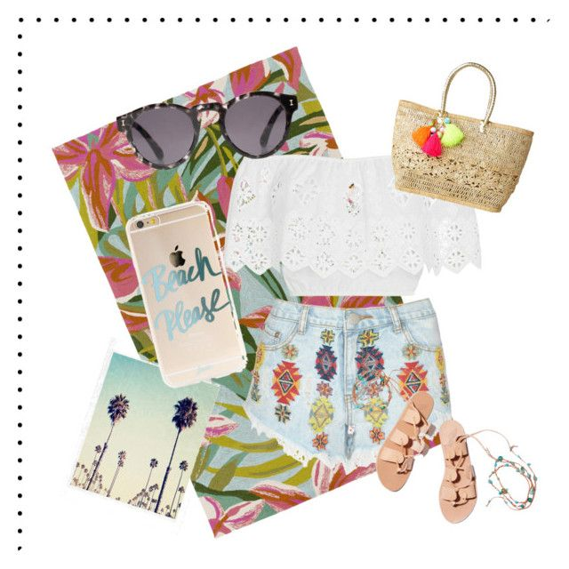 """""""summer'16"""" by ipeeks on Polyvore featuring Surya, Miguelina, Lipsy, Illesteva, Ancient Greek Sandals and Lilly Pulitzer"""
