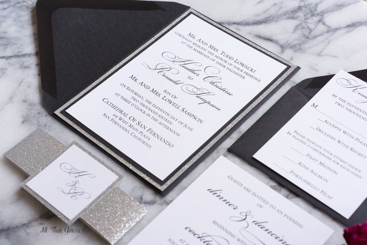 Black And Silver Wedding Invitations: 25+ Best Ideas About Black Silver Wedding On Pinterest