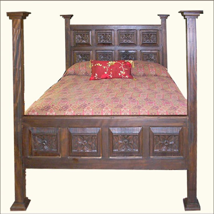 hand carved wood bedroom sets mahogany furniture oak queen size beds