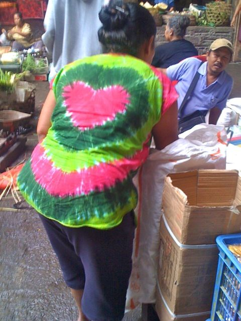 Tie Dye has reached a new level of cool in Ubud. As seen in the local Ubud Market Bali.