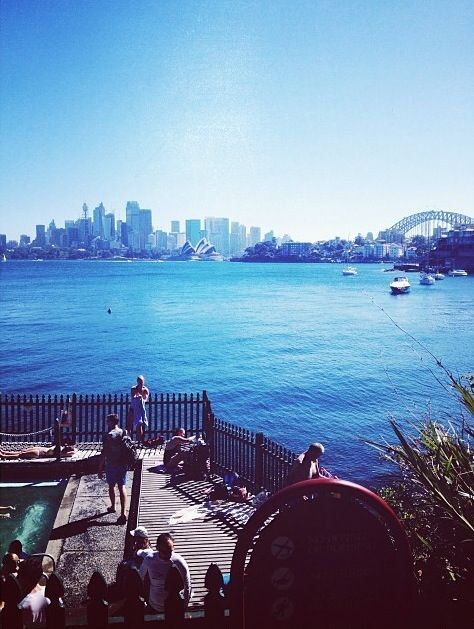 A swim and a sight! Perfect combination! Harbourside pool, Cremorne Point