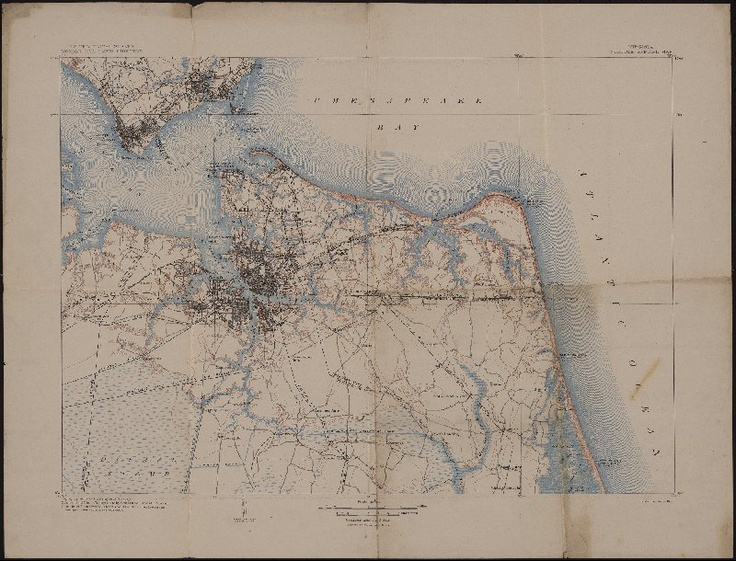 Norfolk Special Map Virginia Geological Survey U S 1907 Albert And