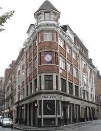 The Ivy, Covent Garden. Going there for dinner!