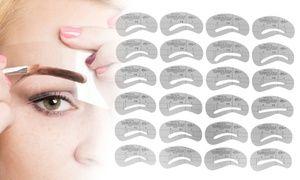 Cet ensemble de 24 pochoirs à sourcils va résoudre les problèmes de mise en forme des sourcils