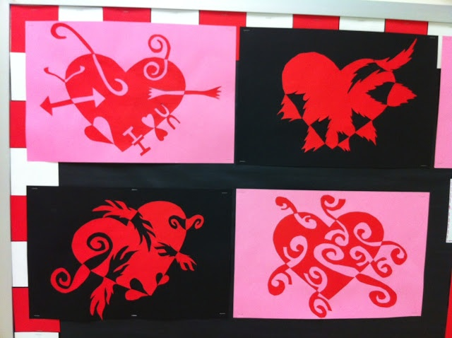 Positive negative space hearts- an alternate approach to notan designs