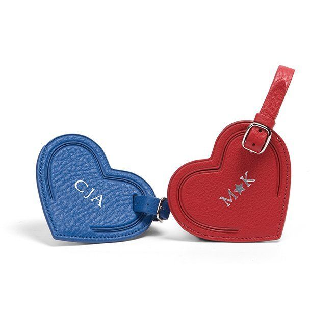 52445384fe4f Small Heart Luggage Tag | Full Grain Leather Scarlet Red | luggage ...