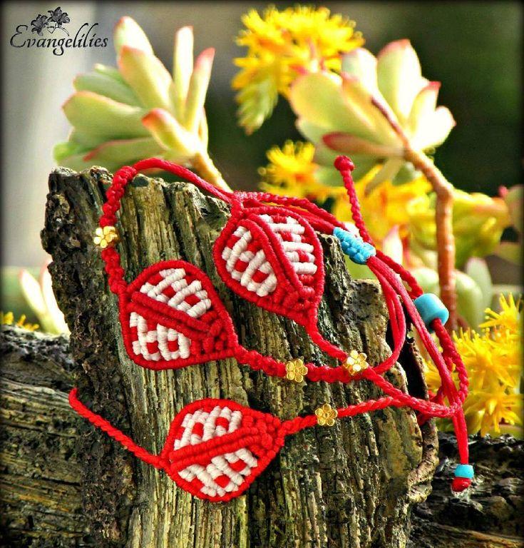 "✿ ""Martis ladybug..."" macrame bracelets  #evangelilies #macrame #micromacrame #micromacramejewelry #macramejewelry #macramebracelet #macrameart #macramelove #handmadejewelry #μακραμέ #χειροποιητακοσμηματα #χειροποίητο #handmadewithlove #handmadebracelet #madeingreece #madebyme #μαρτης #μαρτακια #πασχαλιτσα #ladybug #ladybugbracelet #martis #martisor #martisbracelet #marchbracelet"
