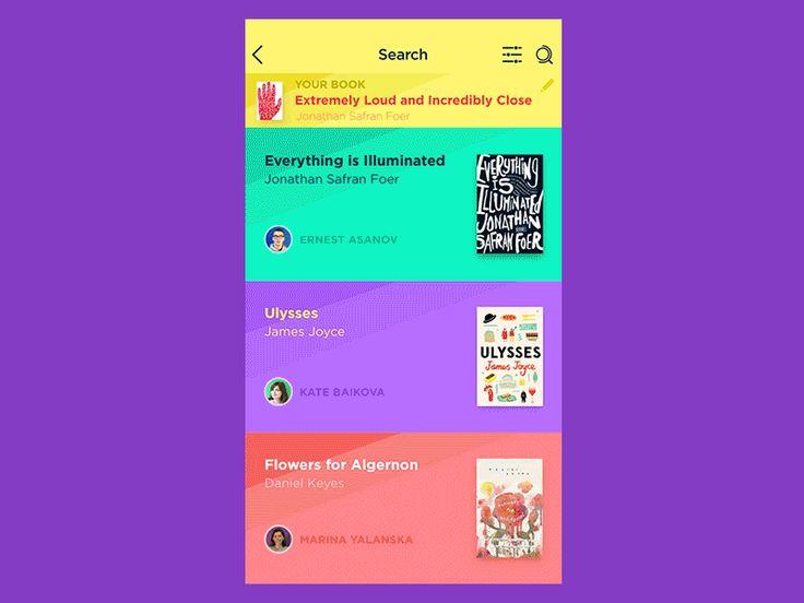 Book Swap App Interactions by tubik