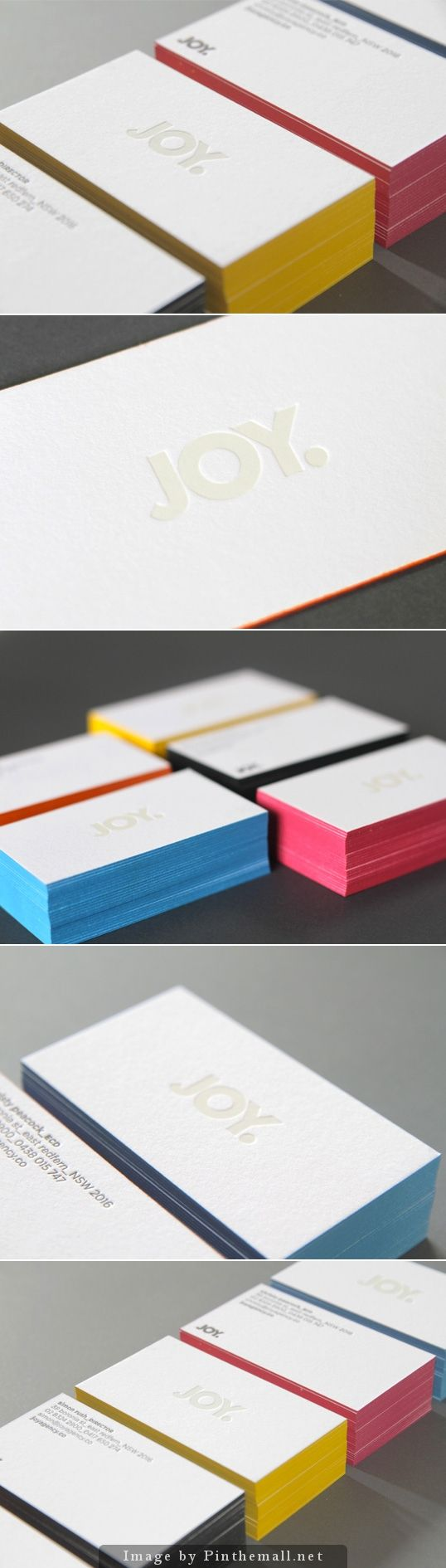 Embossed Business Cards #design #stationary