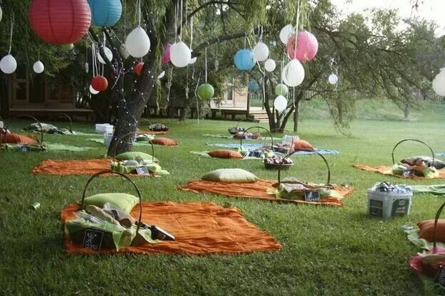 Romantic Backyard Picnic Ideas : Table and chairs, Picnics and Creative on Pinterest